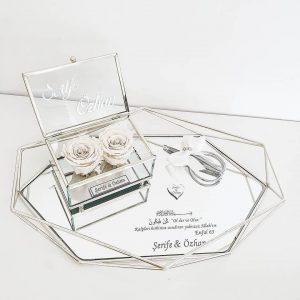 Bracelet nude ruban blanc - KG DESIGNN